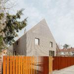 Straßenansicht Wohnhaus Holzbau rundzwei Architekten