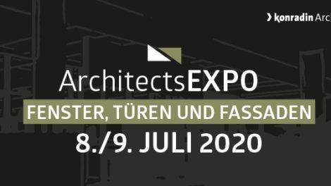 Key Visual zur virtuellen Messe ArchitectsExpo Fenster, Türen und Fassaden