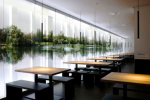 Kantine Düsseldorf mit künstlichem Tageslicht