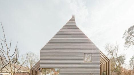 Gartenansicht Wohnhaus Holzbau rundzwei Architekten