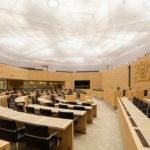 LED-Licht im Plenarsaal