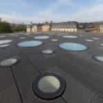 Dachaufsicht Landtag mit Oberlichtern