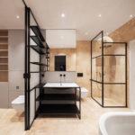 Badezimmer Wohnhaus Holzbau rundzwei Architekten