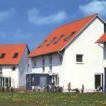 Ansicht eines Doppelhauses