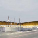 Raumakustik Stadthalle Cham Echtholzoberflächen der Akustikpaneele Ligno
