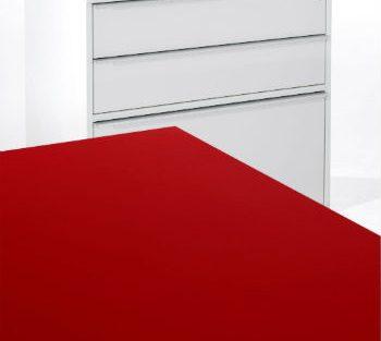 Linoleum ideal für Oberflächen von Büromöbeln