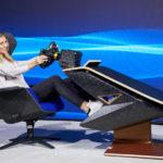 Lounge-Tisch, SIM-Racing-Rig und temporärer Arbeitstisch
