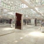Spiegelsaal im deutschen Pavillon aus Eternit