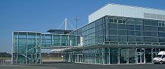 Abfertigungshalle am Nürnberger Flughafen