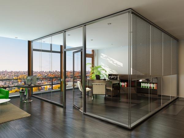 (Un)scheinbar - Glastrennwand Lindner Life 622