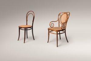 Gebrüder Thonet Stühle Nr. 14 und Nr. 22,1850–1875