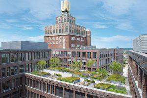 Optigrün-Dach des Jahres 2013. Prächtiger Dachgarten vor dem Dortmunder U
