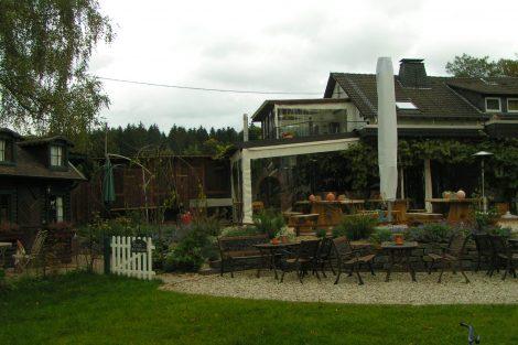 Gastgarten des Waldhotels Schürmann