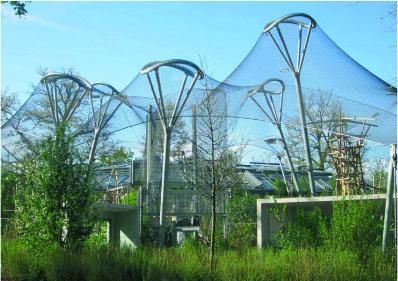 Anlage für afrikanische Menschenaffen in der Wilhelma