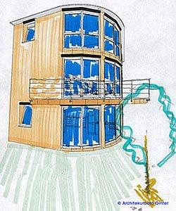 Einfamilienwohnhaus mit Dachbegrünung
