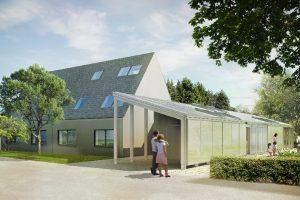 Faserzement macht das LichtAktiv Haus zum LuftAktiv Haus Weniger Smog dank Dachplatten Activa von Eternit
