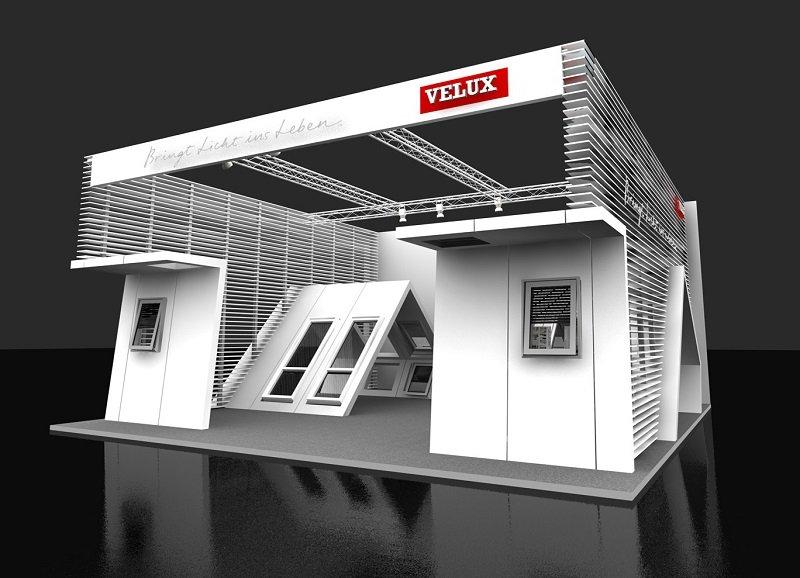 Velux präsentiert seine Produkte auf der DEUBAUKOM auf einem 100 m² großen Messestand.