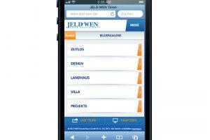 JELD-WEN: die neue mobile Website jeld-wen.de