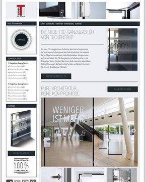 Mehr Licht, mehr Raum, mehr Möglichkeiten: Die Website www.t30-ganzglastuer.com zeigt die gestalterische Bandbreite der neuen Ganzglastür von Teckentrup.