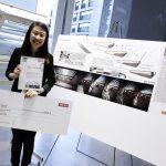 """Der erste Preis ging an Hyunjeong Kim, Studentin an der Universität der Künste Berlin, für ihren Entwurf """"Ferro Fluid Scales""""."""