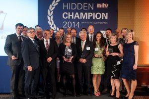 """Der Nachrichtensender n-tv verlieh den Mittelstandspreis """"Hidden Champion"""". In den Katgorien """"Marke"""", """"Gesellschaftliche Verantwortung"""" und """"Nachhaltigkeit"""""""