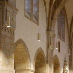 Klosterkirche Loccum Leuchten bei abendlicher Beleuchtung