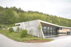 Feuerwehrhaus Wannweil Außenansicht, ausgezeichnet beispielhaftes bauen
