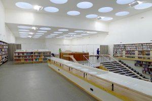Buchausleihe, 2013, nach Sanierung (Photo: The Finnish Committee for the Restoration of Viipuri Library)