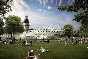 Pavillon für den Geburtstag von Karlsruhe (Rendering)
