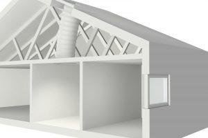 Der Tageslicht-Spot leitet natürliches Licht durch eine reflektierende Röhre in innenliegende Räume unter dem Schräg- oder Flachdach.