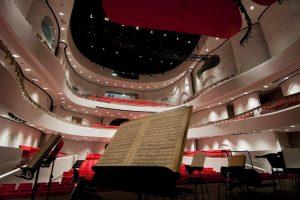 Der Konzertsaal in seiner ganzen Eleganz. Dank der CREANOVApanels verfügt er innen über eine sehr gute Akustik und ist nach außen hin abgeschirmt.