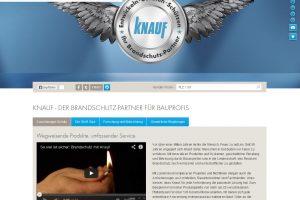 Unter www.knauf-brandschutz.de informiert Knauf über aktuelle Themen des Brandschutzes.