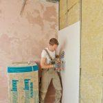 Alle nichttragenden Innenwände sind leichte Metallständerwände, beplankt mit Knauf Bauplatten.