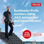 Vom 1. April bis zum 31. Mai 2015 kurbelt Velux den Umsatz des Handwerks mit einer großen Dachfenster-Austauschaktion an. Handwerker profitieren nicht nur von steigenden Absatzzahlen, sondern außerdem von attraktiven Prämien.