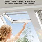 """Unter dem Motto """"Keine halben Sachen"""" bietet Velux Endverbrauchern drei attraktive Kombi-Pakete an. Damit profitieren diese nicht nur von mehr Glasfläche und somit mehr Tageslicht unter dem Dach, sondern können zusätzlich auch kräftig sparen."""