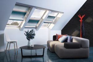 """Teil der Raff-Rollo Kollektion sind auch sechs von dem holländischen Designer-Duo Scholten & Baijings entworfene Dekore. Die """"Colour Collection by Scholten & Baijings"""" ist inspiriert vom Wechsel der Tageslichtstimmungen, hier die Morgenstimmung, und den d"""