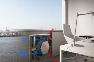 Schüco VentoTec: das weltweit schlankste Lüftungsgerät.