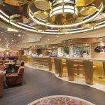 """Der hochwertige Polsterbezugsstoff skai® Sanovara Stars kommt auf den Sitzen und Tischen im luxuriösen Casino und in der gemütlichen Cafeteria """"Il Cappuccino"""" zum Einsatz."""