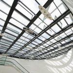 """Die Glasdachkonstruktion """"LAMILUX CI-System Glasarchitektur PR60energysave"""" ist mit dem """"German Design Award 2015"""" ausgezeichnet worden."""