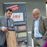 Auch die Produkte von imi-Beton stießen auf großes Interesse.