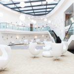 Das Atrium wird von Airconomy, einem System mit Mehrfachnutzen, optimal beheizt und mit vorgewärmter Frischluft versorgt.