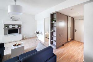 Viel Platz auf wenig Raum: Gelungene Raumzuschnitte und schlanke Wände aus Diamantplatten lassen die einzelnen Wohnungen rundum großzügig wirken.