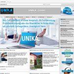 Frisches, neues Layout und intuitive Menüführung zeichnen das neue Web-Design von www.unika-kalksandstein.de aus