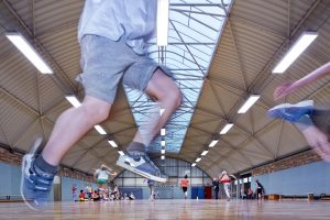 Beste Lichtbedingungen: So macht Schulsport Spaß.