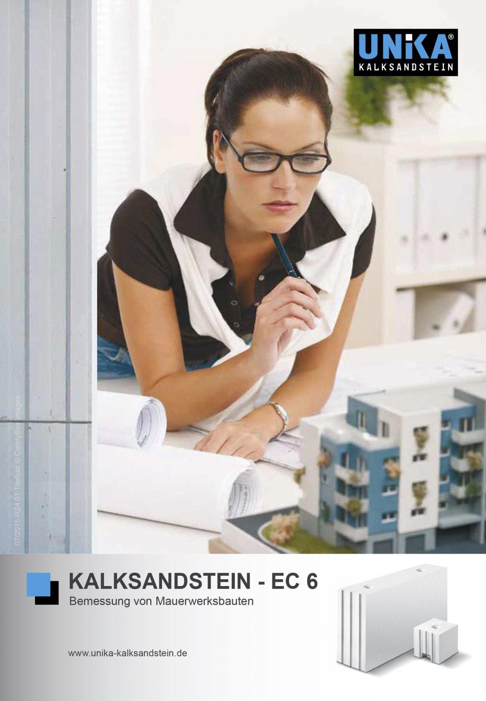 Neue Broschüre zur Bemessung und Ausführung von unbewehrtem Mauerwerk mit UNIKA Kalksandstein nach Eurocode 6 direkt downloadbar auf www.unikakalksandstein. de.