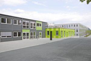 Außenansicht der Interimslösung für das Allgemeine Verfügungszentrum der Universität Osnabrück