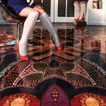 Gestalterischer Freiraum: Ein Boden mit Arturo-Beschichtung und einem integrierten Folien-Fotoprint, entworfen von der Designerin Bianca Leusing.