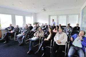 Stefan Gaschler erklärte das neue Salamander Planungstool, das beispielsweise erstellte Profilschnitte in 3D anzeigt.