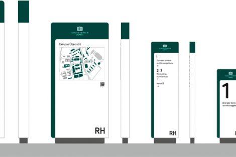 Zukunftsorientiertes System   Wettbewerbsentwurf eines Leitsystems für die TU Chemnitz, 2. Preis