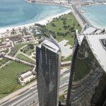 Die Außenansichten der Etihad Türme werden geprägt von Vorhangfassaden aus Aluminiumprofilen und graublau beschichteten Sonnenschutzgläsern (135.000 m²) sowie einer Structural Glazing-Fassade im Sockelgeschoss (6.000 m²).